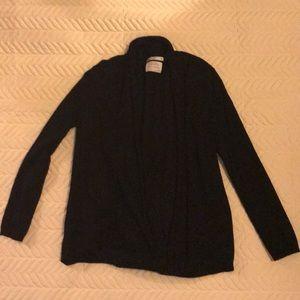 ZARA Girls Knitwear Soft Black Cardigan